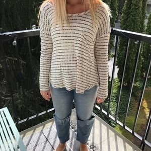 Free People Crisscrossing and Low Back Sweater